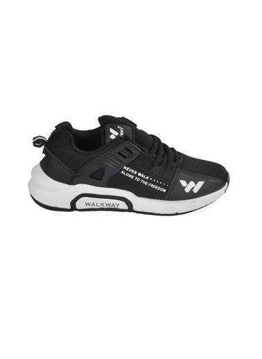 Walkway 1797 Siyah-Beyaz Unisex Spor Ayakkabı Siyah